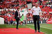 Reading first team manager Paul Clement with Nottingham Forest manager Aitor Karanka in the background during the EFL Sky Bet Championship match between Nottingham Forest and Reading at the City Ground, Nottingham, England on 11 August 2018.