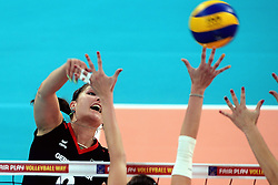 06-09-2013 VOLLEYBAL: EK VROUWEN DUITSLAND - SPANJE: HALLE<br /> Duitsland wint met 3-0 van Spanje / Corina Ssuschke Voigt<br /> &copy;2013-FotoHoogendoorn.nl