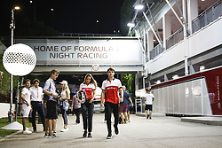 September 13, 2018 - Singapore, Singapore - Motorsports: FIA Formula One World Championship 2018, Grand Prix of Singapore, .#16 Charles Leclerc (MCO, Alfa Romeo Sauber F1 Team) (Credit Image: © Hoch Zwei via ZUMA Wire)