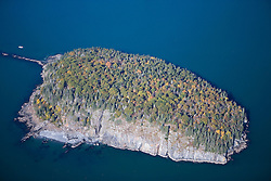 Bald Porcupine Island in Acadia National Park Maine USA