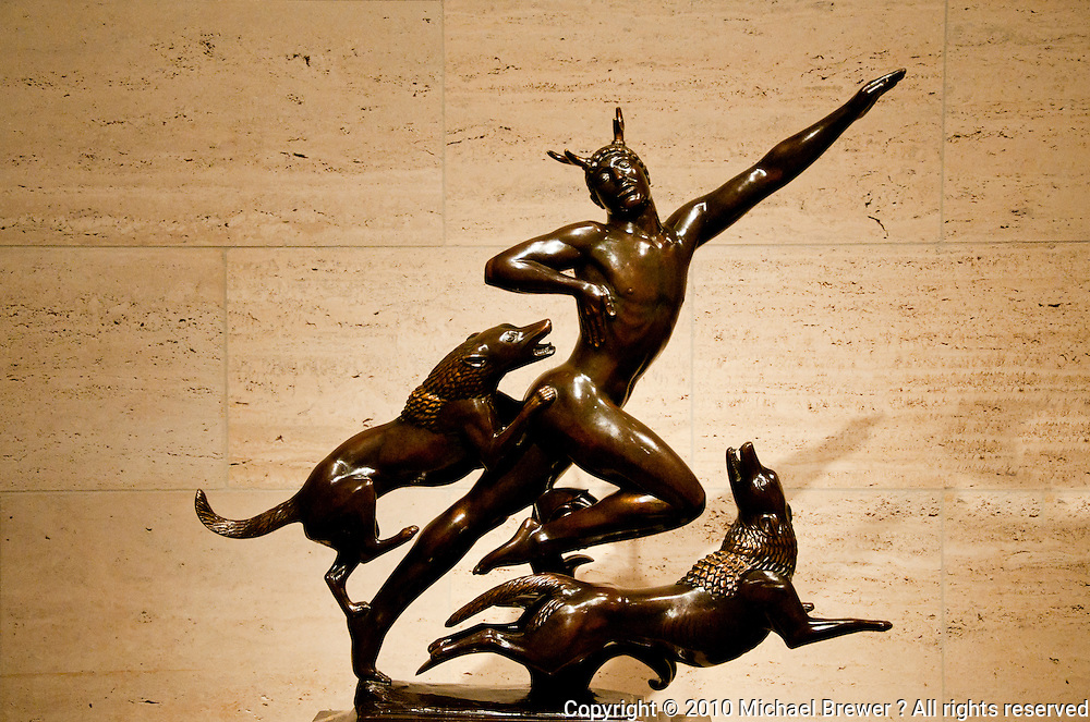National Gallery, Washington DC. Actaeon sculpture by Paul Manship