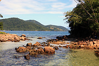 lagoa azul in the beautiful island of ilha grande near rio de janeiro in brazil