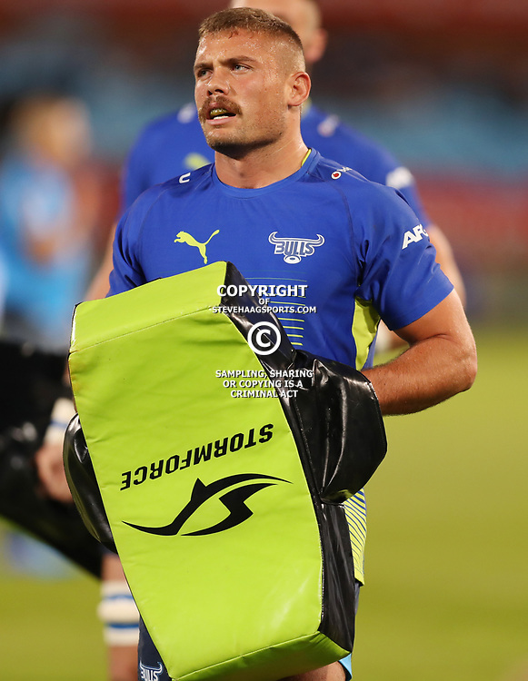 Jaco Visagie of the Vodacom Bulls during the Super Rugby match between the Vodacom Bulls and the Jaguares at Loftus Versfeld, Pretoria,South Africa April 15th 2017 Photo by (Steve Haag)