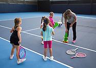 Rafa Nadal Academy in Manacor, Mallorca,Kinder spielen in der Tennishalle,<br /> <br />  - Rafa Nadal Academy -  -  Rafa Nadal Academy - Manacor - Mallorca - Spanien  - 24 October 2016. <br /> &copy; Juergen Hasenkopf