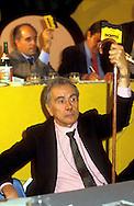 Roma 1987.Congresso del Partito Radicale.Enzo Tortora
