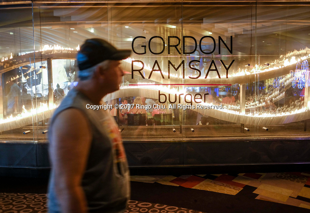 Gordon Ramsay Burger in Las Vegas.(Photo by Ringo Chiu)<br /> <br /> Usage Notes: This content is intended for editorial use only. For other uses, additional clearances may be required.