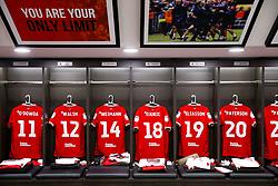 Shirts hang in the Bristol City dressing room - Rogan/JMP - 04/08/2018 - Ashton Gate Stadium - Bristol, England - Bristol City v Nottingham Forest - Sky Bet Championship.