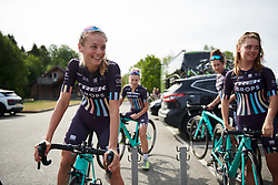 Eva Buurman (NED) before Ladies Tour of Norway 2018 Stage 3. A 154 km road race from Svinesund to Halden, Norway on August 19, 2018. Photo by Sean Robinson/velofocus.com