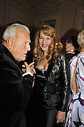 JOHN RICHARDSON; JERRY HALL, Nicky Haslam party for Janet de Bottona nd to celebrate 25 years of his Design Company.  Parkstead House. Roehampton. London. 16 October 2008.  *** Local Caption *** -DO NOT ARCHIVE-© Copyright Photograph by Dafydd Jones. 248 Clapham Rd. London SW9 0PZ. Tel 0207 820 0771. www.dafjones.com.