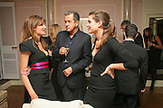 JEMIMA KHAN, MARIO TESTINO AND CHARLOTTE CASIRAGHI, Dinner hosted by Elizabeth Saltzman for Donatella Versace. Claridge's Hotel, Brook Street, Mayfair, London. 11 March 2008.  *** Local Caption *** -DO NOT ARCHIVE-© Copyright Photograph by Dafydd Jones. 248 Clapham Rd. London SW9 0PZ. Tel 0207 820 0771. www.dafjones.com.