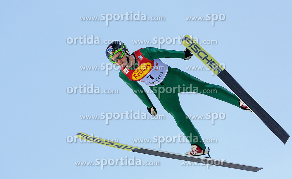 30.01.2016, Casino Arena, Seefeld, AUT, FIS Weltcup Nordische Kombination, Seefeld Triple, Skisprung, Probedurchgang, im Bild Jan Schmid (NOR) // Jan Schmid of Norway competes during his Trial Jump of Skijumping of the FIS Nordic Combined World Cup Seefeld Triple at the Casino Arena in Seefeld, Austria on 2016/01/30. EXPA Pictures © 2016, PhotoCredit: EXPA/ JFK