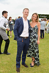 LAVINIA BRENNAN and her fiance LAVINIA BRENNAN at the Cartier Queen's Cup Final 2016 held at Guards Polo Club, Smiths Lawn, Windsor Great Park, Egham, Surry on 11th June 2016.