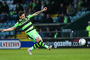 Forest Green Rovers Chris Clements(22) during the EFL Sky Bet League 2 match between Yeovil Town and Forest Green Rovers at Huish Park, Yeovil, England on 24 April 2018. Picture by Shane Healey.