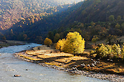 Iskar river defile in autumn