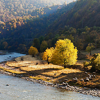 Iskar river defile in autumn