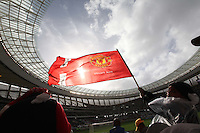 A Manchester United fan during their International friendly match at Cape Town Stadium,South Africa