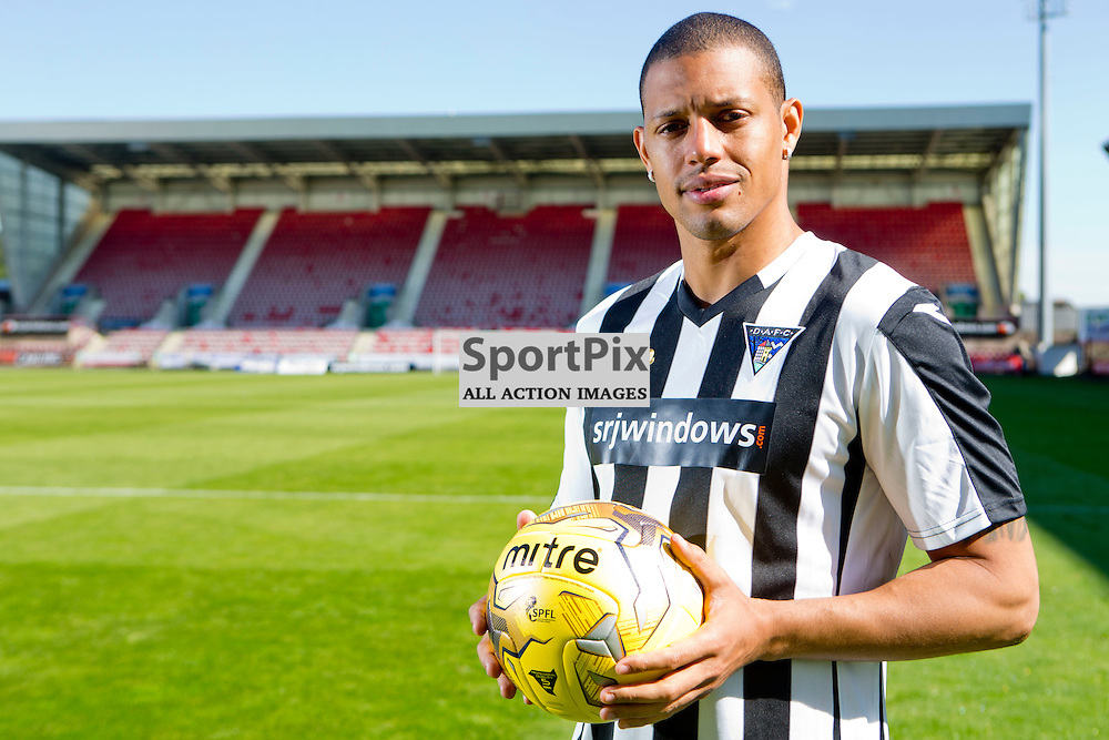 DAFC Sign Micka&euml;l Antoine-Curier East End Park 07 September 2015<br /> <br /> (c) CRAIG BROWN | SportPix.org.uk