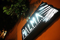 The exterior and sign to Palma, a popular restaurant in Cartagena's old city, on Thursday, August 23, 2008. (Photo/Scott Dalton)