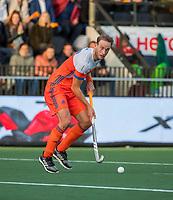 AMSTELVEEN - Billy Bakker (Ned)   tijdens  de tweede  Olympische kwalificatiewedstrijd hockey mannen ,  Nederland-Pakistan (6-1). Oranje plaatst zich voor de Olympische Spelen 2020.   COPYRIGHT KOEN SUYK
