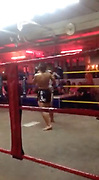 """This is the SHOCKING brutal moment two 9 year old Muay Thai boxers knock each out in brutal fight in Thailand's sex capital Pattaya. <br /> <br /> Tourist Jack Ryan, 41, from Manchester took the footage while on his way to walking street, Pattaya's sex capital hotspot where thousands of prostitutes work.<br /> <br /> He decided to walk into a group of beer bars just before the famous walking street after seeing a huge boxing ring with young kids fighting in the middle of these small bars where prostitutes sit and wait for foreign customers, """"you can buy sex here for as little as 20"""" Jack said.<br /> <br /> The shocking footage shows two young kids aged around 9 years old fighting brutally, the child in the black shorts punches his opponent giving him left and right hooks, he then elbows and kicks his opponent, pushing him to the corner were he releases a flurry of punches.<br /> <br /> The young opponent in the red and gold shorts then fights back with four hard kicks to the head and then the 5th kick knocks the child in black shorts to the floor. You can hear women in the background scream with emotion.<br /> <br /> After the ref briefly checks on the young boy, the fight starts again. The boy with the red and black shorts un leashes many punches and knees his opponent in a shocking fight which knocks the young boy out once again.<br /> <br /> Jack who watched the fight said """"I spotted the young boys fighting so went to look and saw up close that these were kids not older than 9 years old beating each other hard""""<br /> <br /> He continues """"I was surprised to see how brutal this was and took a short clip before one of the adult fighters begin to shout at me, so I quickly left""""<br /> ©Exclusivepix Media"""