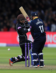 Surrey's Sam Curran is bowled by Warwickshire's Ateeq Javid for 13 during Royal London One Day Cup Final at Lord's, London.
