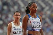Shelayna Oskan-Clarke (Great Britain), Women's 800m Heats Round 1, during the 2019 IAAF World Athletics Championships at Khalifa International Stadium, Doha, Qatar on 27 September 2019.