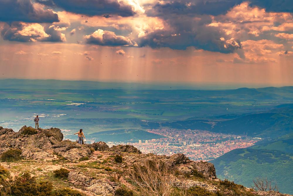 View to town of Sliven from Karandila peak