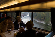 Restaurangvagnen p&aring; Amtraks t&aring;g The Empire Builder. <br /> <br /> Foto: Christina Sj&ouml;gren