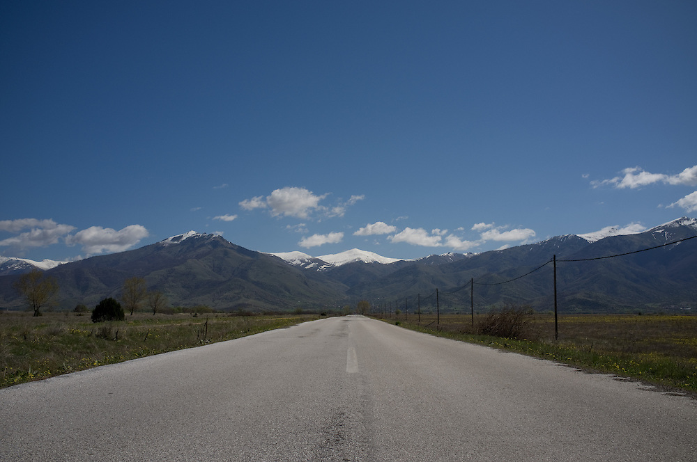 The road from Kula to Lemos in Greece