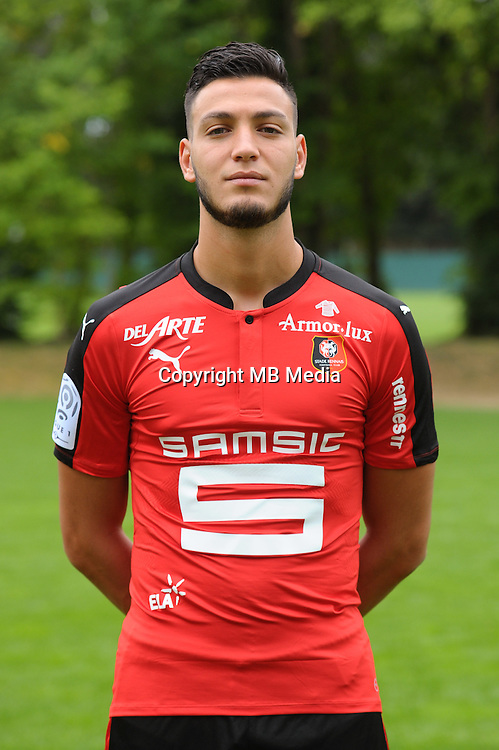 Rami Bensebaini of Rennes during the presentation of the Stade Rennais Team on September 12, 2016 in Rennes, France. (Photo by Andre Ferreira/Icon Sport)