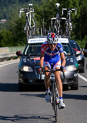 Kristjan Fajt (SLO) of Adria Mobil at 1st stage of Tour de Slovenie 2009 from Koper (SLO) to Villach (AUT),  229 km, on June 18 2009, in Koper, Slovenia. (Photo by Vid Ponikvar / Sportida)