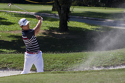 February 3, 2018 - Shah Alam, Kuala Lumpur, Malaysia - Daniel Im is seen taking a shot from a bunker at hole no 18 on day 3 at the Maybank Championship 2018...The Maybank Championship 2018 golf event is being hosted on 1st to 4th February at Saujana Golf & Country Club. (Credit Image: © Faris Hadziq/SOPA via ZUMA Wire)