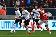 Martyn Waghorn (9) of Derby County on the attack during the EFL Sky Bet Championship match between Bristol City and Derby County at Ashton Gate, Bristol, England on 27 April 2019.