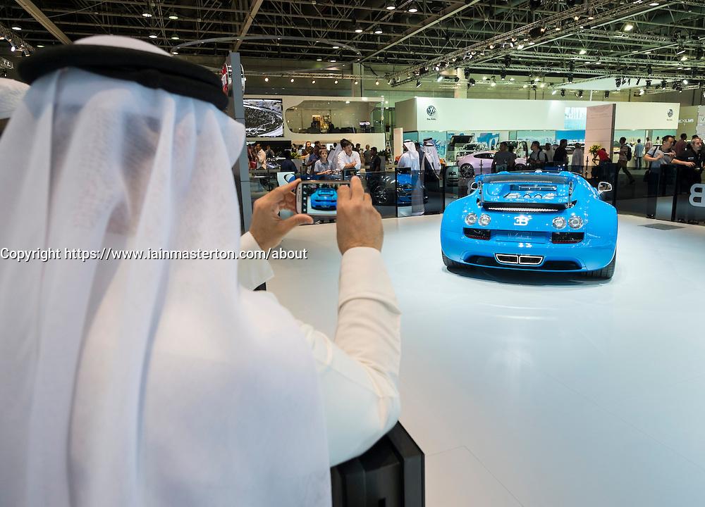 Bugatti stand at the Dubai Motor Show 2013