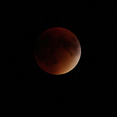 20150927 Lunar Eclipse Super Blood Red Moon Event Royalty Free Stock Images