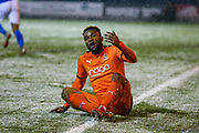 Luton Town forward Kazenga LuaLua (25) appeals for a foul during the EFL Sky Bet League 1 match between Luton Town and Portsmouth at Kenilworth Road, Luton, England on 29 January 2019.