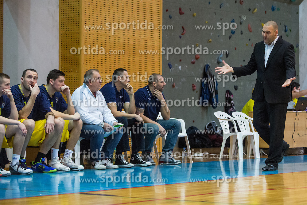 Keselj Igor head coach and players of KK Sencur GGD during basketball match between KK Sencur  GGD and KK Tajfun Sentjur for Spar cup 2016, on 16th of February , 2016 in Sencur, Sencur Sports hall, Slovenia. Photo by Grega Valancic / Sportida.com