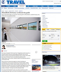 Tearsheet from The Telegraph newspaper...Dusseldorf museum