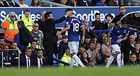 Football - 2018 / 2019 Premier League - Everton vs. West Ham United<br /> <br /> Everton manager Marco Silva and Morgan Schneiderlin of Everton  at Goodison Park.<br /> <br /> COLORSPORT/LYNNE CAMERON