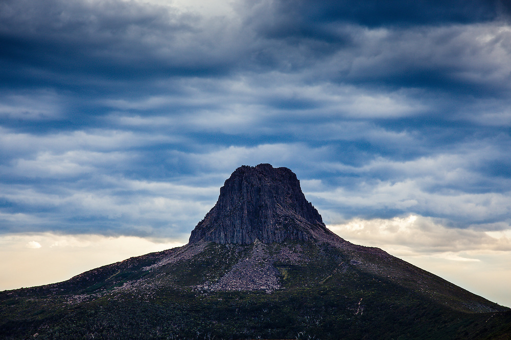 Barn Bluff with gathering storm clouds