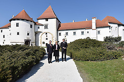 18.03.2016, Cakovec, CRO, Trilateral Treffen der Staatspraesidenten von Kroatien, Slowenien und Oesterreich, im Bild v.l. Heinz Fischer (Präsident Österreich), Kolinda Grabar-Kitarovic (Präsidentin Kroatien), Borut Pahor (Präsident Slowenien) // The museum of the city of Varazdin - Old Town held a working meeting of President Kolinda Grabar-Kitarovic with the presidents of the Republic of Austria Heinz Fischer and the Republic of Slovenia, Borut Pahor. Cakovec, Croatia on 2016/03/18. EXPA Pictures © 2016, PhotoCredit: EXPA/ Pixsell/ Vjeran Zganec-Rogulja<br /> <br /> *****ATTENTION - for AUT, SLO, SUI, SWE, ITA, FRA only*****