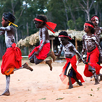 Garma Festival 2016, a celebration of Yolngu culture, in Gulkaka, far north eastern Arnhem Land, Northern Territory, NT, Australia. The Top End of Australia. The Yolngu are the original Australians, from well before white European and English settlement. They are the aboriginal indigenous people of the land, called Arnhemland. Arnhemland is their own land, and the Yothu Yindi Foundation, is an aboriginal not-for-profit organisation working to preserve and nurture Yolngu Culture. The Yolngu are connected to land, their university is in their songs, the Yidaki (didgeridoo), art, designs, paintings, stories, all performed on the Bungul ground (traditional dancing sacred site) at the Garma Festival, a coming together of two cultures to better enrich the lives of all involved. Yolngu educating the Balanda (while folk) about the Yolngu ways, their traditional culture, as displayed in all areas of their lives. The Garma Festival is a powerful experience for all involved, and it's my joy as official photographer to the Yothu Yindi Foundation at the Garma Festival, to be invited to photograph the rich culture and heritage of the Yolngu. They are a warm beautiful people, and it's my joy to be part of their culture, and document it through my photography