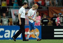25-06-2006 VOETBAL: FIFA WORLD CUP: NEDERLAND - PORTUGAL: NURNBERG<br /> Oranje verliest in een beladen duel met 1-0 van Portugal en is uitgeschakeld / Marco van Basten en Dirk Kuyt<br /> ©2006-WWW.FOTOHOOGENDOORN.NL