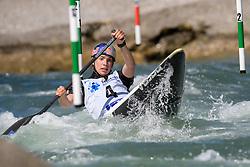 Viktoria WOLFFHARDT of Austria during the Canoe Single (WC1) Womens Semi Final race of 2019 ICF Canoe Slalom World Cup 4, on June 30, 2019 in Tacen, Ljubljana, Slovenia. Photo by Sasa Pahic Szabo / Sportida