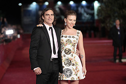 60697659 Scarlett Johansson with Joaquin Phoenix  attends the 'Her' Premiere during The 8th Rome Film Festival on November 10, 2013 in Rome, Italy. Picture by  imago / i-Images<br /> UK ONLY