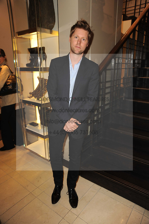 CHRISTOPER BAILEY at Burberry, Bond Street as part of Fashion's Night Out held around London on 8th September 2010.