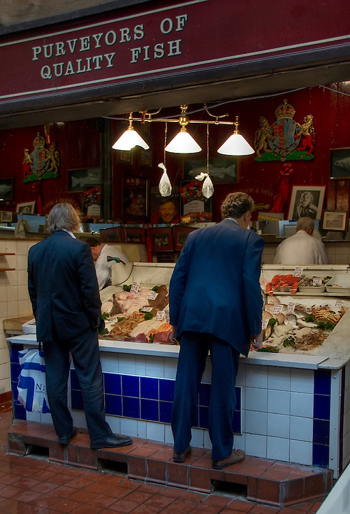 H.S. Linwood &amp; Sons, located in Leadenhall's covered Victorian market is the home to some of the freshest fish and meat in London.<br />