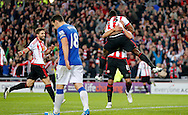 Lamine Kone (23) of Sunderland celebrates scoring to make it 3-0 during the Barclays Premier League match at the Stadium Of Light, Sunderland<br /> Picture by Simon Moore/Focus Images Ltd 07807 671782<br /> 11/05/2016
