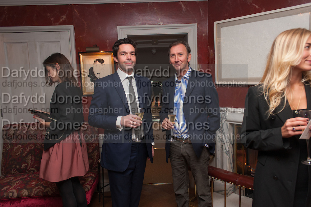 ELLIOT MACDONALD; KEITH COVENTRY, Dinner to celebrate the opening of Pace London at  members club 6 Burlington Gdns. The dinner followed the Private View of the exhibition Rothko/Sugimoto: Dark Paintings and Seascapes.