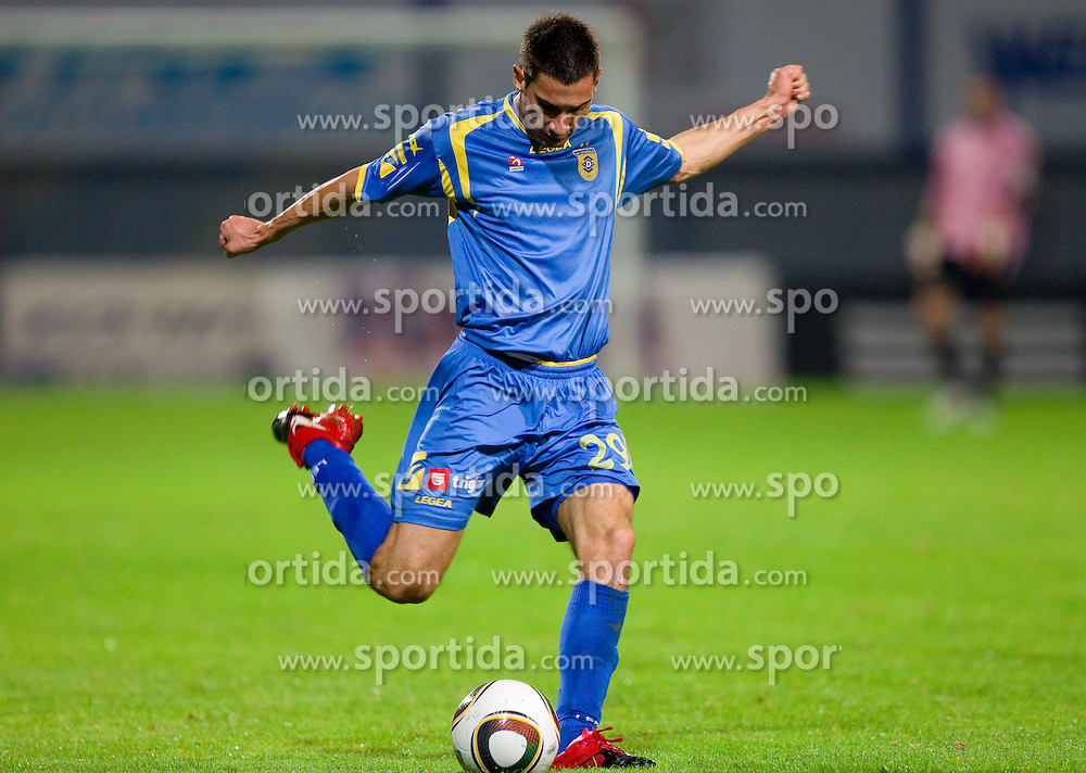 Matic Seferovic of Domzale during the football match between NK Domzale and MIK CM Celje, played in the 10th Round of Prva liga football league 2010 - 2011, on September 22, 2010, Spors park, Domzale, Slovenia. Domzale defeated Celje 1 - 0. (Photo by Vid Ponikvar / Sportida)